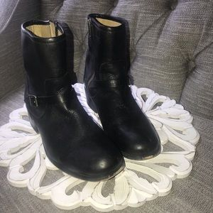 Frye Black Leather Boots Woman's 8